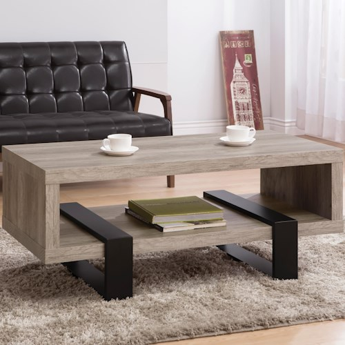Coaster Accent Tables Modern Open Shelf Coffee Table