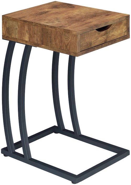 Coaster Accent Tables Chairside Table with Storage Drawer and Outlet