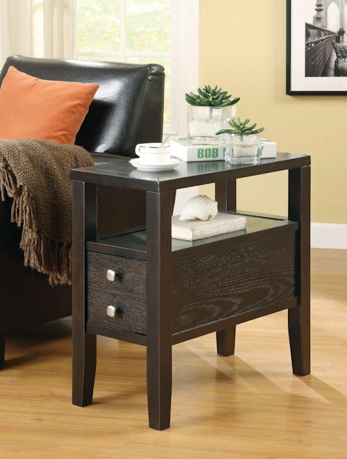 Coaster Accent Tables Casual Storage Chairside Table