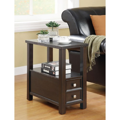 Coaster Accent Tables Casual 1-Drawer 1-Shelf Chairside Table