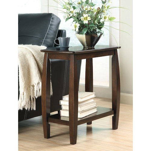 Coaster Accent Tables Contemporary Bowed Leg Chairside Table