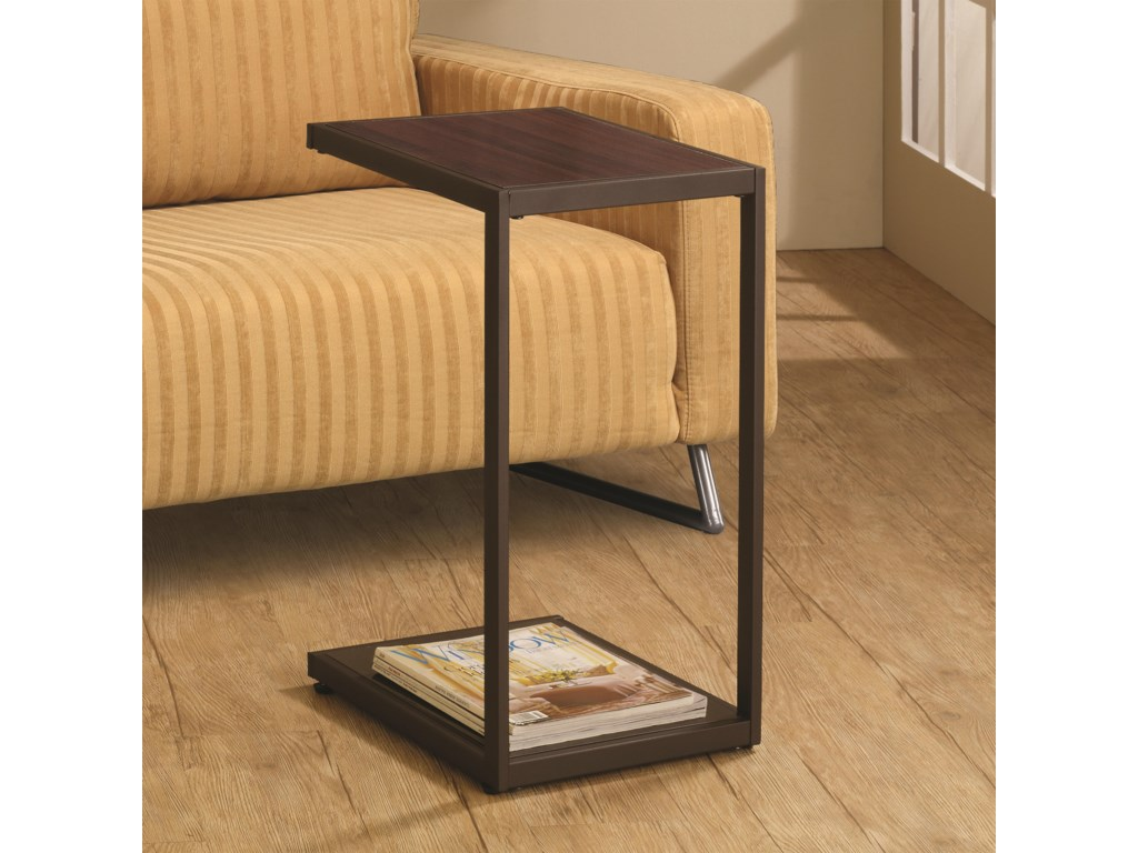 Coaster Accent TablesDark Brown Snack Table