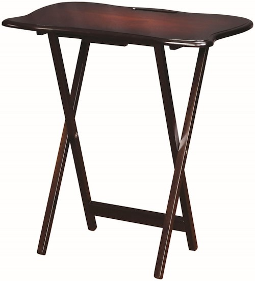 Coaster Accent Tables Solid Wood Tray Table