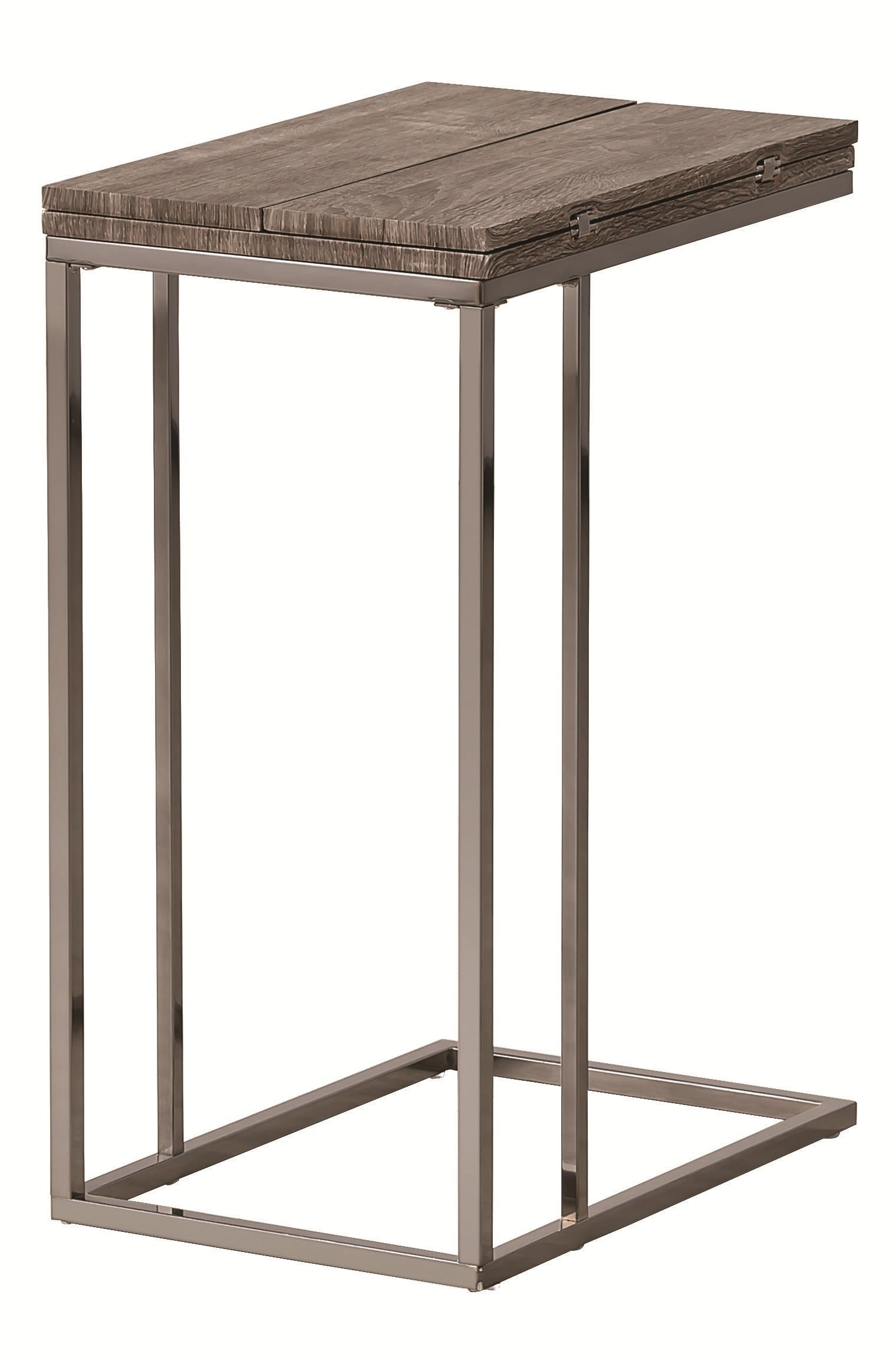 Coaster Accent Tables Weathered Snack Table   Dunk U0026 Bright Furniture   End  Tables