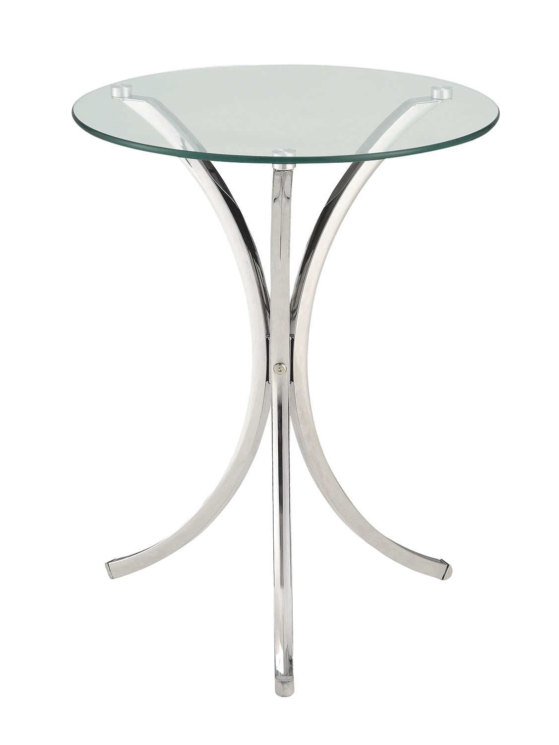 Clear Tempered Glass Accent Table