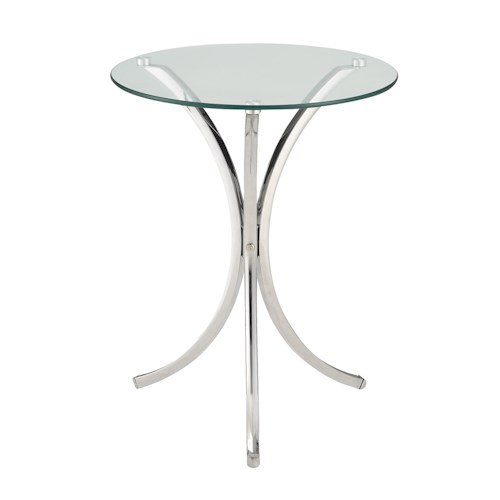 Coaster Accent Tables Clear Tempered Glass Accent Table