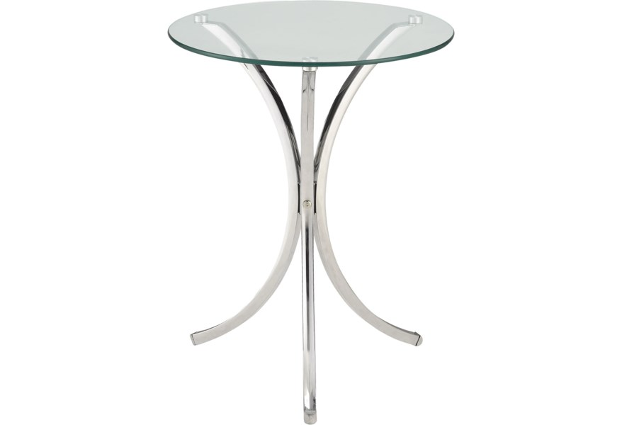 Clear Tempered Gl Accent Table