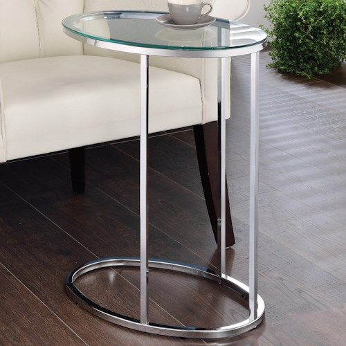Coaster Accent Tables Glass Top Contemporary Snack Table