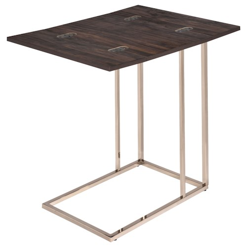 Coaster Accent Tables Snack Table with Expandable Rotating Top