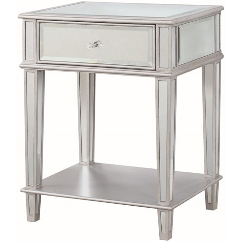Coaster Accent Tables Accent Table with Mirrored Finish