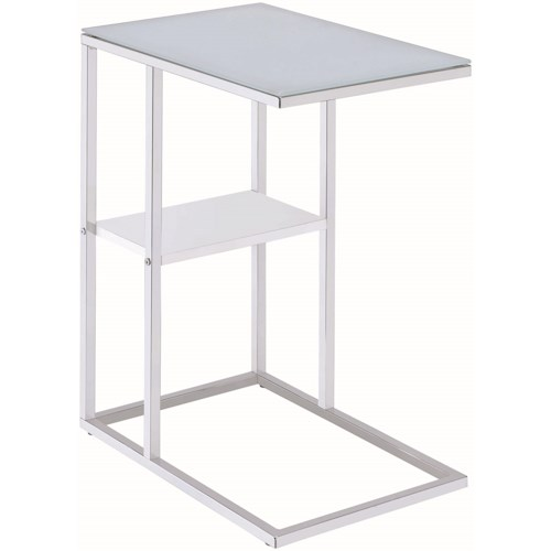 Coaster Accent Tables Contemporary Snack Table with Glass Top