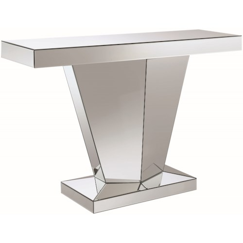 Coaster Accent Tables Pedestal Contemporary Console Table