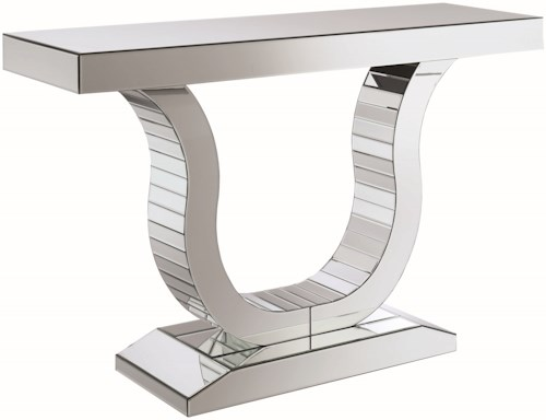 Coaster Accent Tables Glam Mirrored Console Table