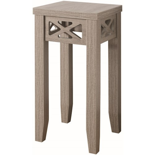 Coaster Accent Tables Accent Table with Triangle Trim Accent