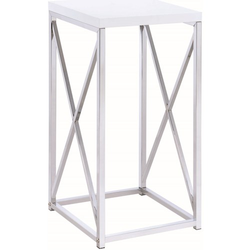 Coaster Accent Tables Contemporary Accent Table with X-Base