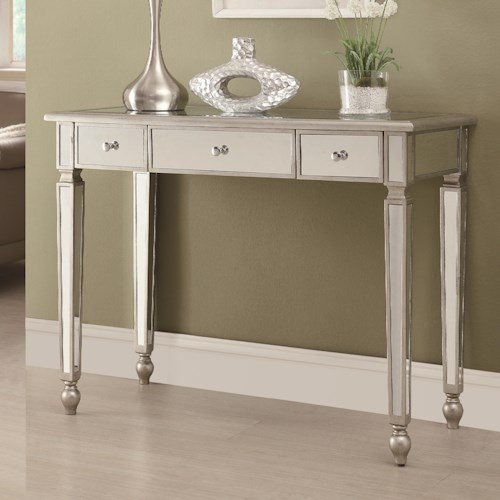 Coaster Accent Tables Contemporary Mirrored Sofa Table