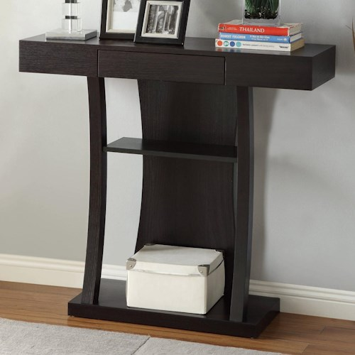 Coaster Accent Tables T-Shaped Console Table with 2 Shelves