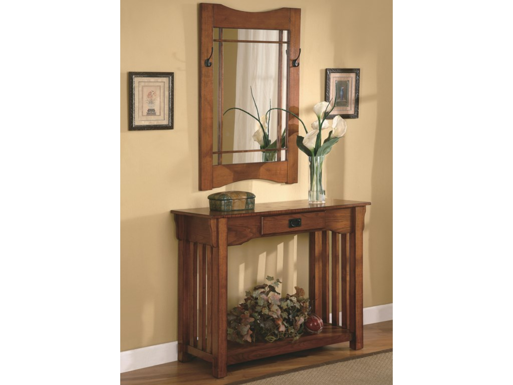 Accent Tables Mission Style Table Framed Mirror Set By Fine Furniture At Del Sol