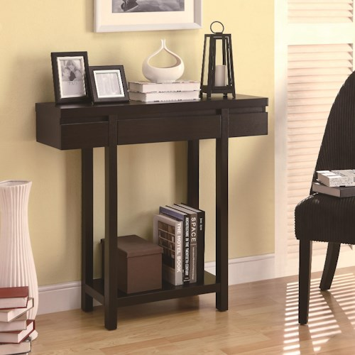 Coaster Accent Tables Modern Entry Table with Lower Shelf