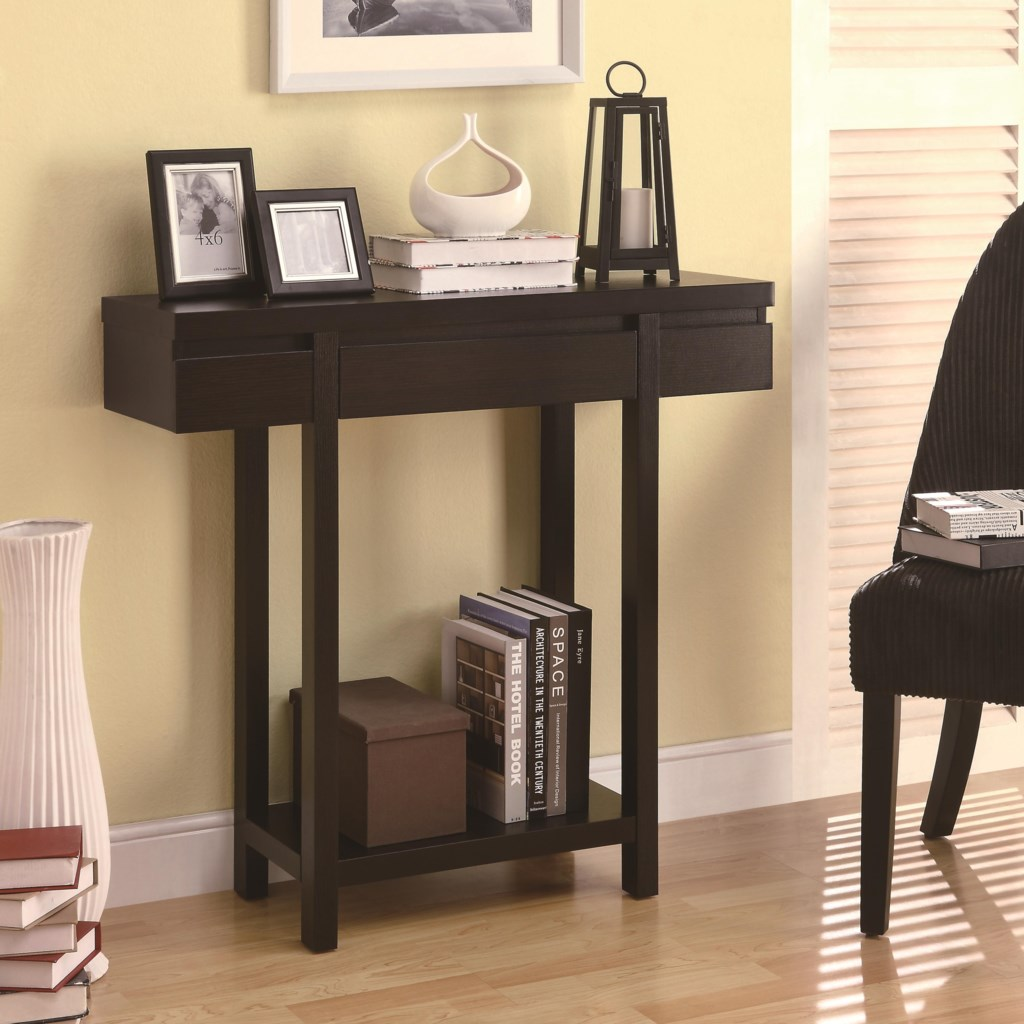 Coaster Accent Tables 950135 Modern Entry Table With Lower Shelf  ~ Sofa Server Accent Table