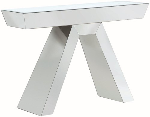 Coaster Accent Tables Contemporary Mirrored Console Table
