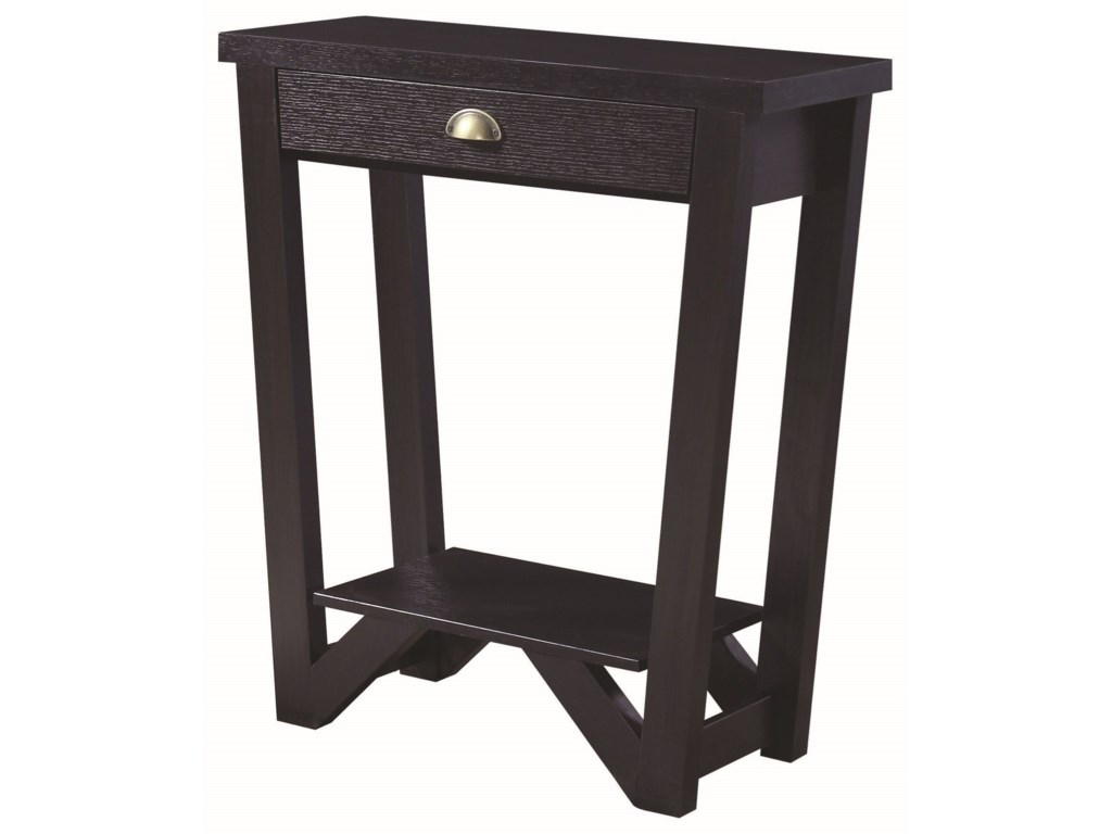 Coaster Accent Tables Transitional Angled Console Table Miskelly