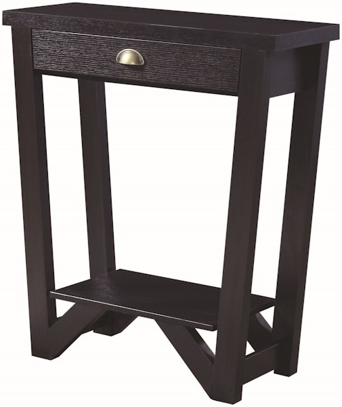 Coaster Accent Tables Transitional Angled Console Table