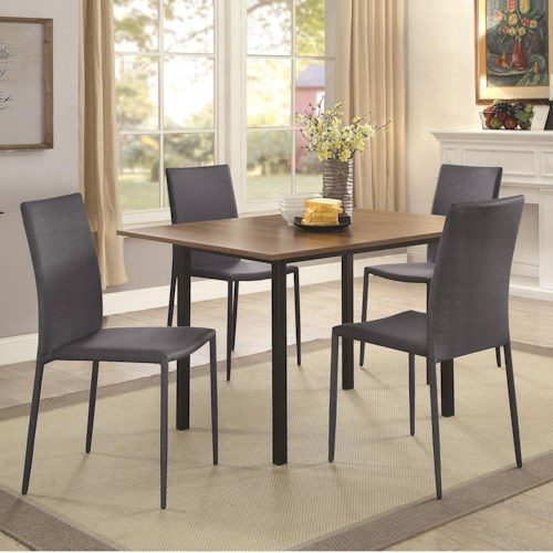 Coaster Adler Space-Saving 5 Piece Dining Table Set