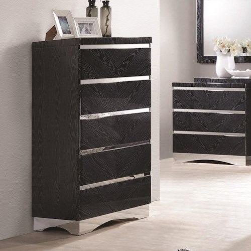 Coaster Alessandro 5 Drawer Chest with Full Extension Glides