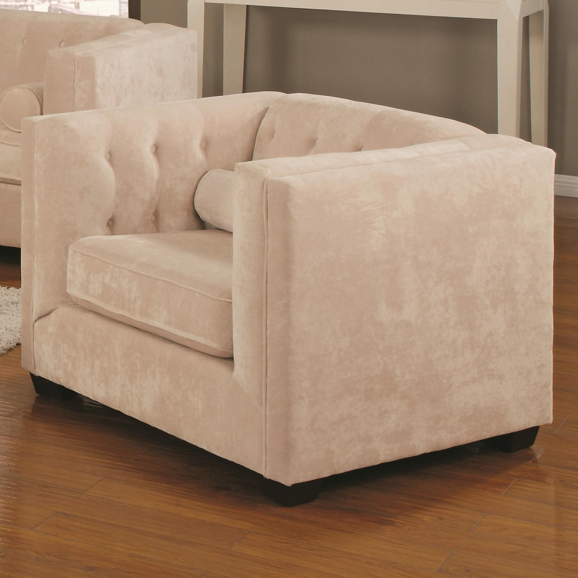 Coaster Alexis Transitional Upholstered Chesterfield Chair With High Track  Arms | Value City Furniture | Upholstered Chairs