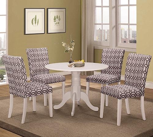 Coaster Allston Round Pedestal 5 Pc Table & Chair Set