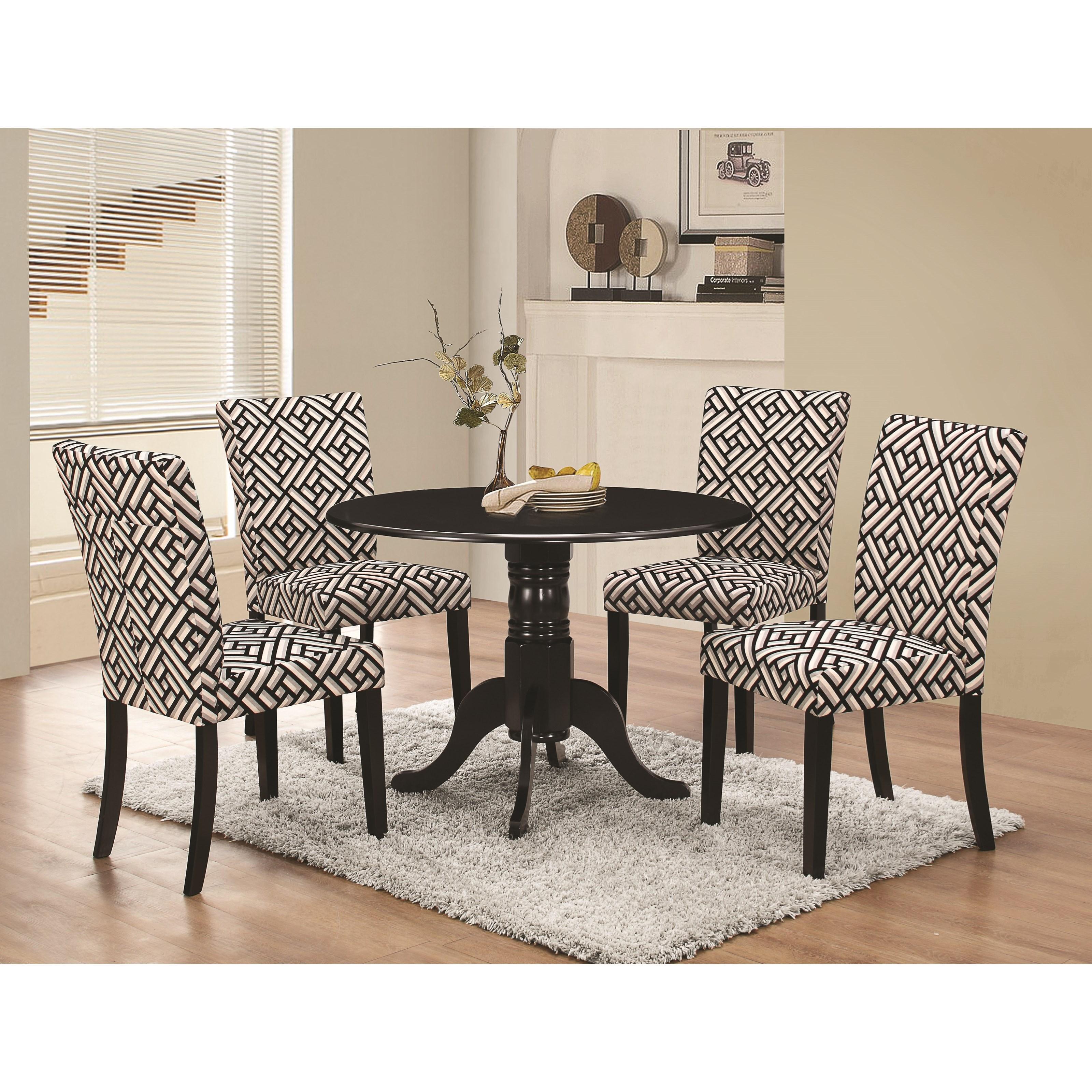 coaster allston round pedestal 5 pc table u0026 chair set