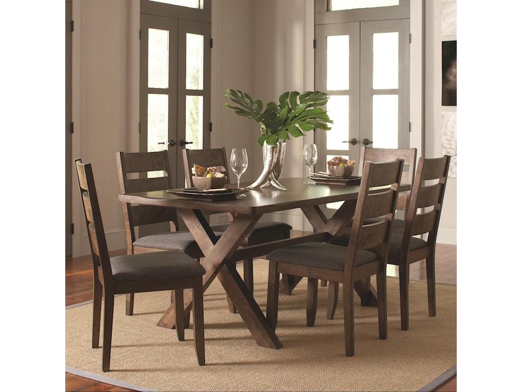 Coaster Alston7 Pc Table & Chair Set