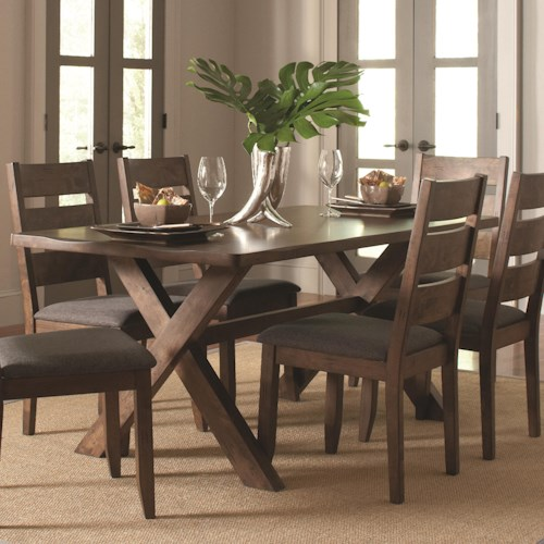 Coaster Alston Rustic Trestle Dining Table