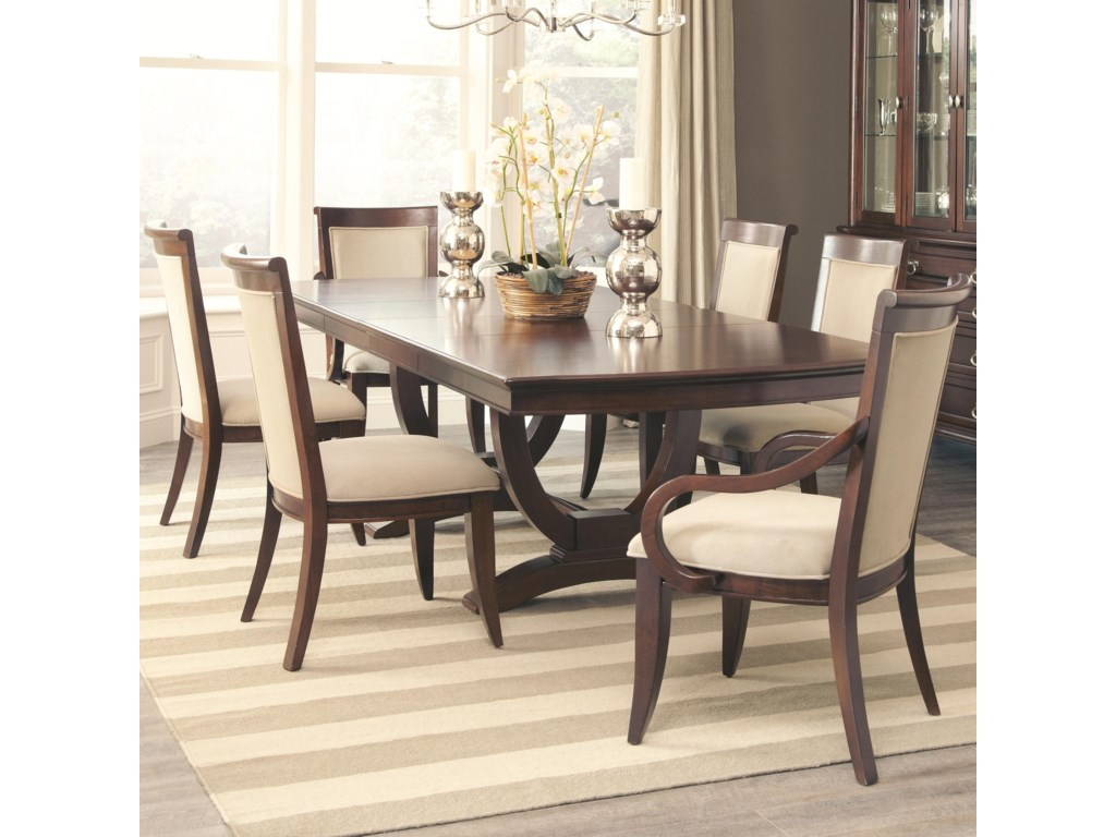 Alyssa Dining Table And 4 Side Chair 2 Arm Set By Coaster