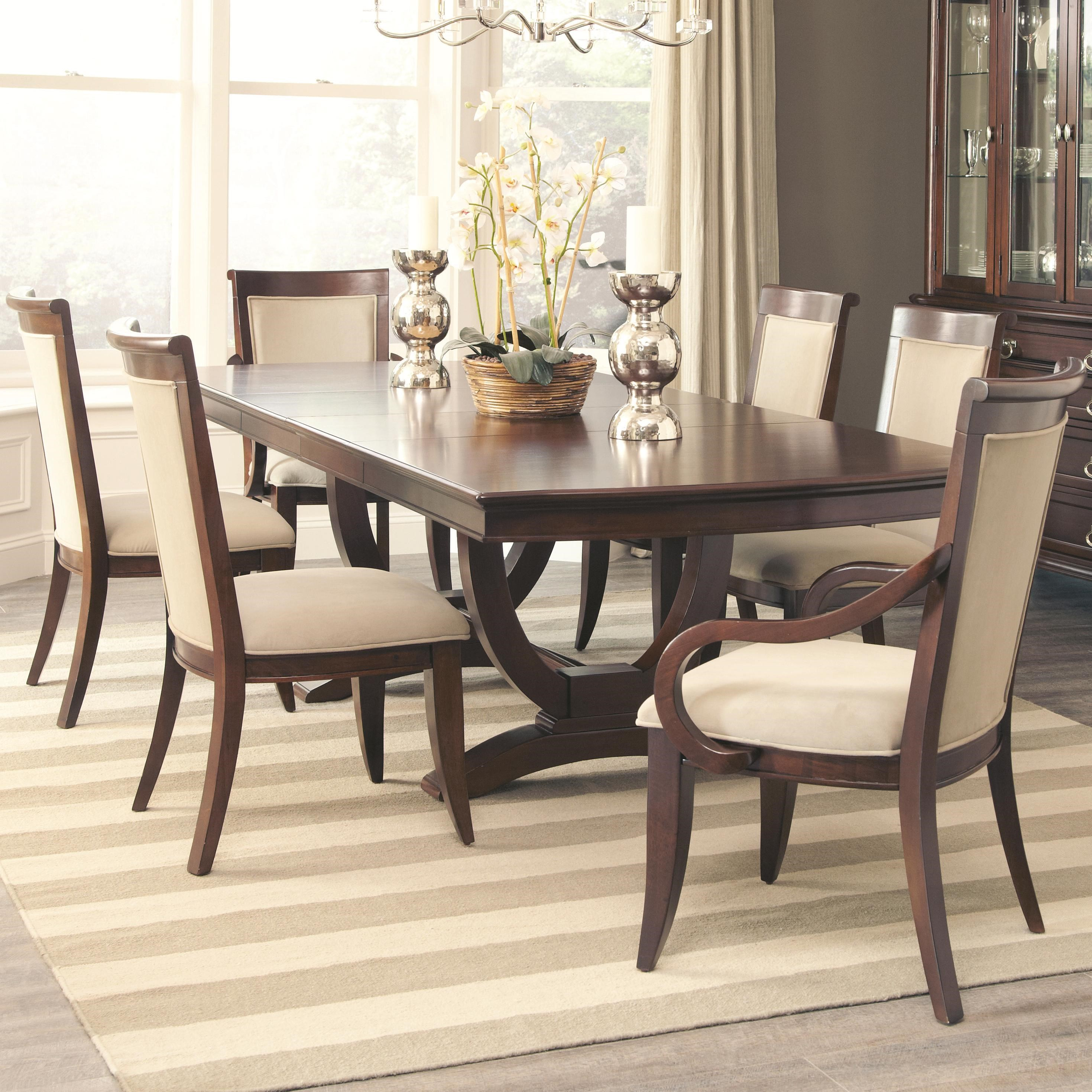Alyssa Dining Table And 4 Side Chair And 2 Arm Chair Set By Coaster