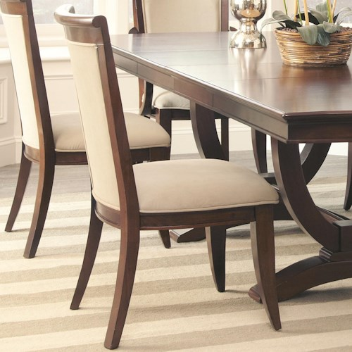 Coaster Alyssa Dining Side Chair with Flared Feet and Upholstered Seat