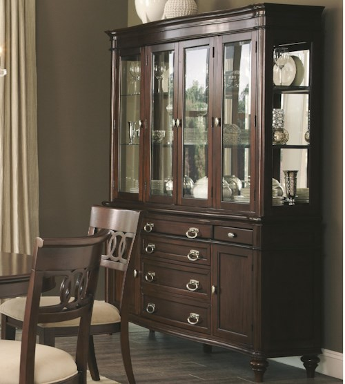 Coaster Alyssa Buffet with Hutch and 6 Doors and 6 Drawers and 3 Shelves