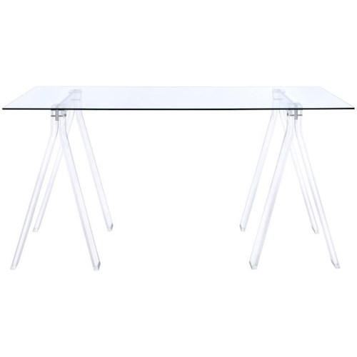 Coaster Amaturo Acrylic Sawhorse Writing Desk