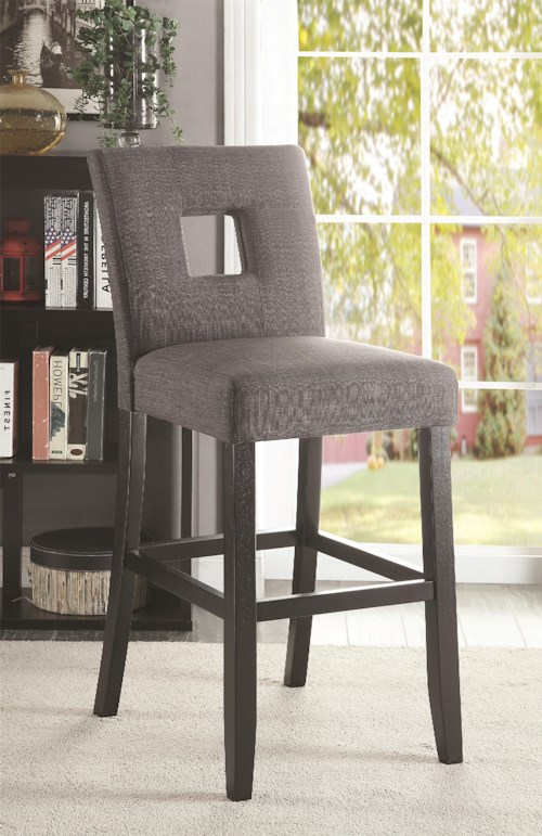 Coaster Andenne Counter Height Chair with Square Cutout in Seat Back
