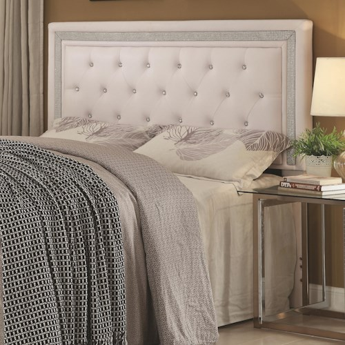 Coaster Andenne Bedroom Glamorous Contemporary Queen Full   Coaster Andenne Bedroom Glamorous Contemporary Queen Full Headboard. Coaster Bedroom Furniture. Home Design Ideas