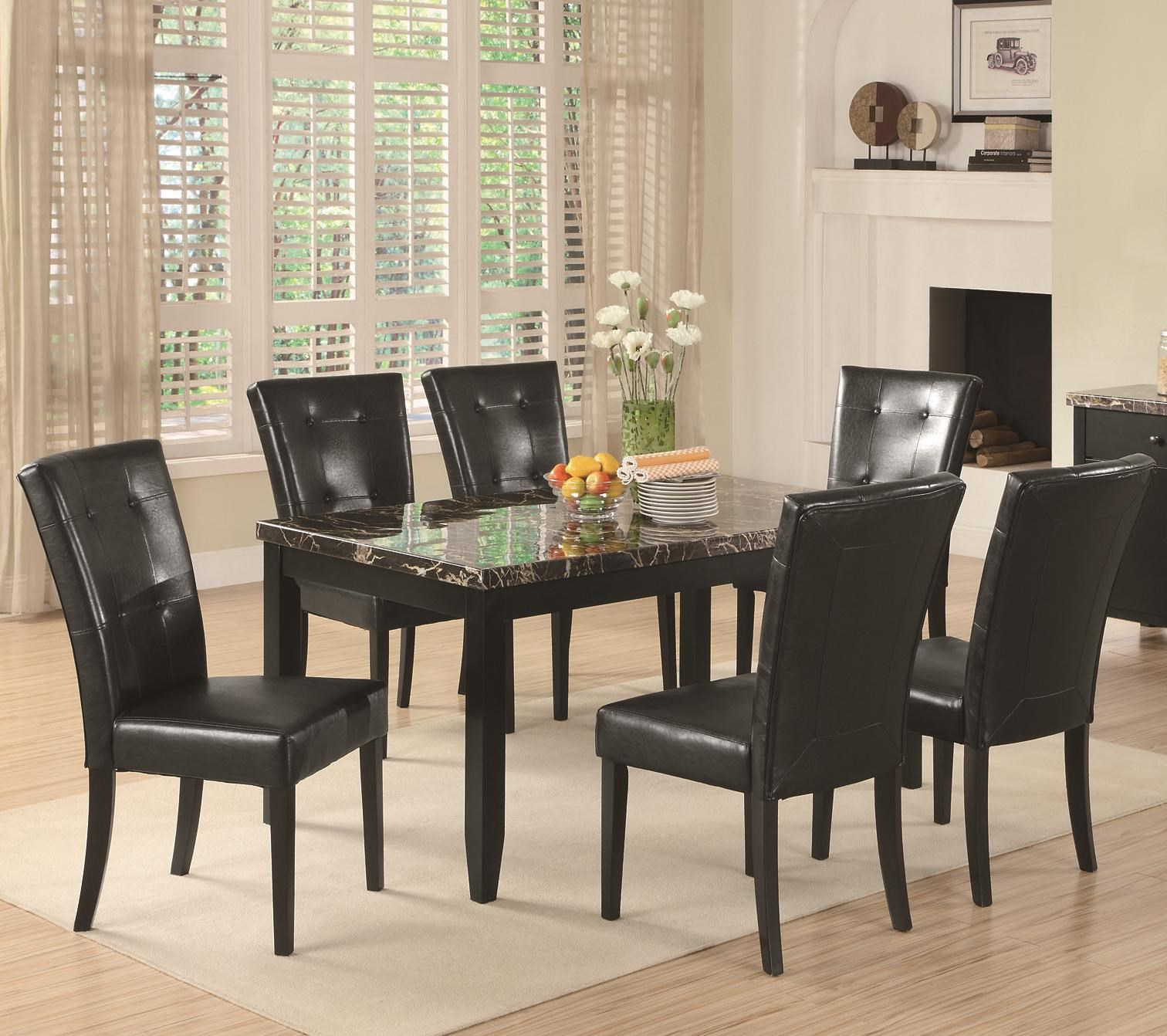 Coaster Anisa7 Piece Dining Table Set ...  sc 1 st  Value City NJ Furniture & Coaster Anisa 7 Piece Dining Table and Chairs Set | Value City ...