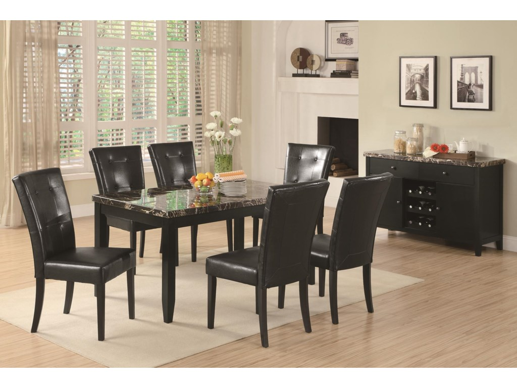 Shown with Coordinating Side Chairs and Server