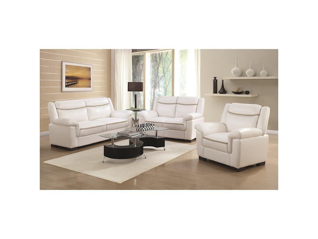 Coaster Arabella Stationary Living Room Group | Value City Furniture ...
