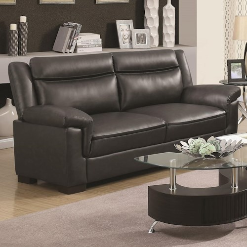 Coaster Arabella Contemporary Leatherette Sofa