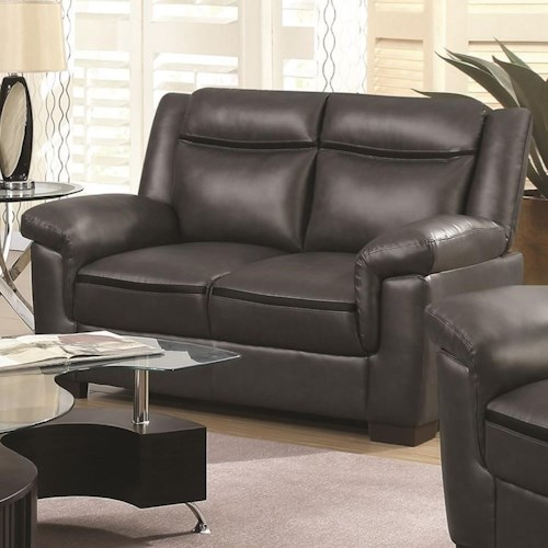Coaster Arabella Contemporary Leatherette Loveseat