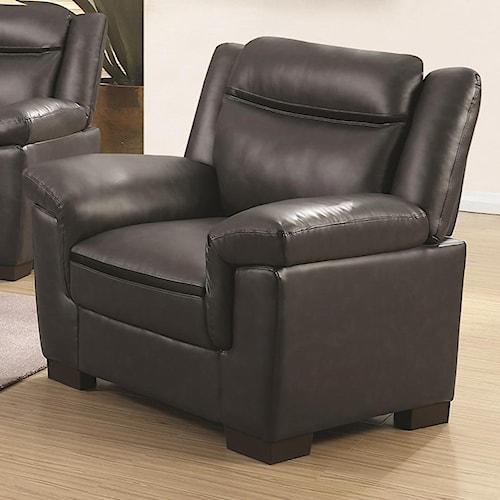 Coaster Arabella Contemporary Leatherette Chair