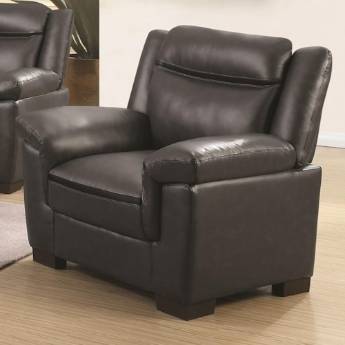 Coaster Arabella Contemporary Leatherette Chair