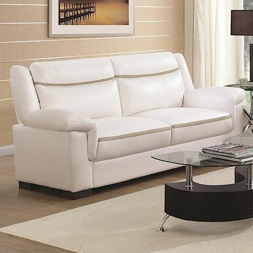Coaster Arabella Contemporary Leatherette Sofa