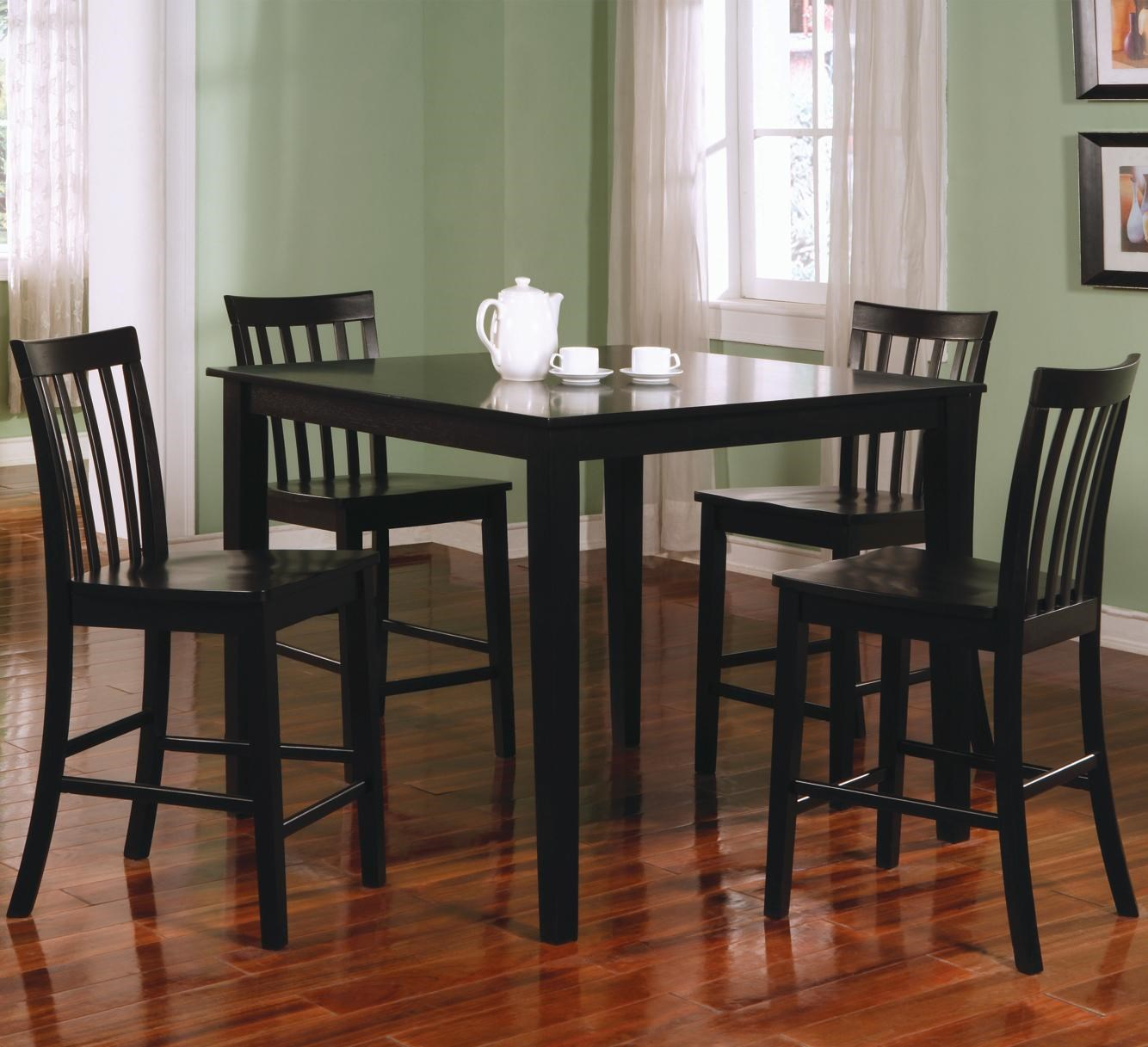 Coaster Ashland 5 Piece Counter Height Dining Set Value